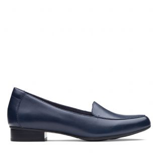 Clarks Juliet Lora Navy Leather Womens Shoes